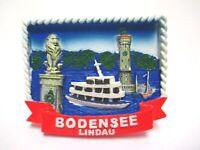 Bodensee Lindau Magnet Leuchtturm Poly 7 cm Germany Souvenir (377)