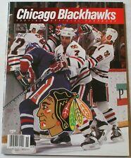 1991-92 Chicago Blackhawks Yearbook Belfour Chelios Roenick Hasek NHL