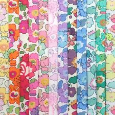 "12 Liberty Print Tana Lawn pieces, each min. 5"" x 5"" - *BETSY Rainbow*"