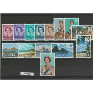 St Lucia 1964 Definitive Elizabeth 14 Val MNH MF78375