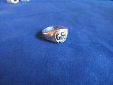 Mens Boys Sterling Plated Spinel Fashion Ring Sz 10