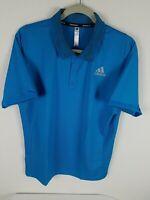 Adidas Freelift Primeblue Tennis Golf Polo SIze L-XL Men's Blue Striped FK0815