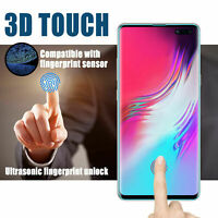 3D Curved Fingerprint Unlock Tempered Glass Screen Protector for Samsung S10 5G