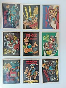1978 donruss CB convoy code stickers set + 2 wrappers
