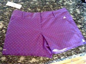 Adidas Adizero Women's size 14 shorts Purple w/Design