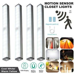 Magnet LED Lichtleiste mit PIR-Bewegungsmelder weiß Bewegungssensor Nacht Lampe