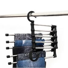Pants Trousers Rack Shelves Steel Multi-functional Wardrobe Magic Hanger Clip