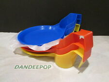 6 Piece Yellow, Blue, Red Drink Plates All in one plate and Cup Party Taillgate