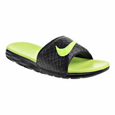 Nike Men/'s Benassi JDI SE Slides Sandals NIB Black//Amarillo AJ6745-002 $45
