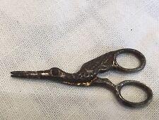 Antique Victorian Miniature Steel Stork Scissors 1.5 Inches