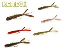 """Keitech 3"""" Hog Impact 7cm 1,4g 12 Stück Forelle Barsch Drop Shot Carolina Texas"""