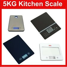 New Digital Electronic Kitchen Scales Nutrition Food Scale Weight 5kg Free Post