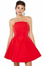 NEW & TAG THE LABEL RED COCKTAIL FORMAL DRESS OBSESSION S / 8 RP $160 FREE POST