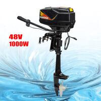 HANGKAI 48V Outboard Motor Trolling Motor Fishing Boat Engine Long Shaft 1000W