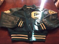 Vintage Men's 1965 Wool and Leather Letter Jacket Green Large C See Measurements