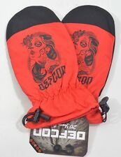 2014 NWT DEFCON DEATHPROOF MITTENS $30 M infra red gloves throwback style