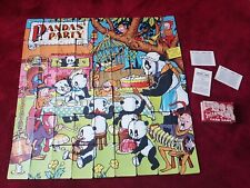 Vintage Pandas'' Party Jigsaw Card Game  Complete Set