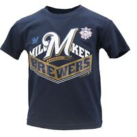 Milwaukee Brewers Youth Kids Size Genuine MLB Official T-Shirt New with Tags