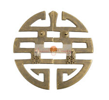 """Antique Furniture Brass Hardware Chinese Cabinet Face Plate Door Handle 9.65"""""""