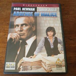 Absence of Malice DVD Paul Newman (Region 2 Europe) LIKE NEW