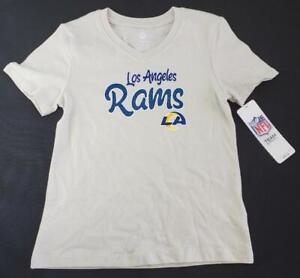 -= NFL Los Angeles Rams Girls Team Apparel Small 6/6X V-Neck T-Shirt NEW