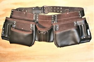 Leather Framer Contractor Tool Belt Pouch 13 pocket