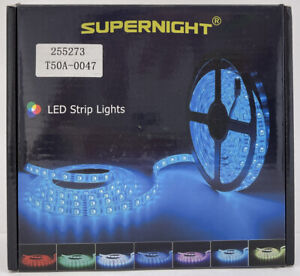 SUPERNIGHT 5M 16.4Ft 5050 Waterproof 300leds Blue LED Strip light Flexible 12V