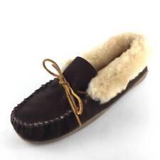Minnetonka Alpine Sheepkin Moc Womens Size 11 M Slippers Brown