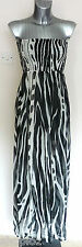 Pia Rossini Resort Wear Bandeau Africa Maxi Dress Beachwear Cover Up Bnwt
