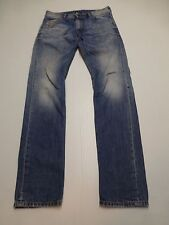"Diesel Mens 27X32 (31"" Waist) Krayver Regular Slim Carrot Distressed Blue Jeans"