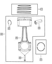 Genuine MOPAR Piston Pin And Rod 68031890AD