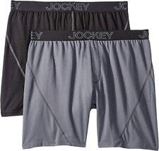 Jockey No Bunch Boxer 2-Pack Black/Lantern Grey Men's Size L 7411
