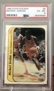 1986 Fleer Michael Jordan Sticker PSA