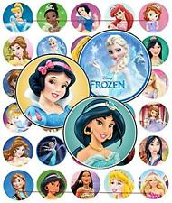 "60 Precut 1"" PRINCESS Bottle Cap Images A, New, Free Shipping"