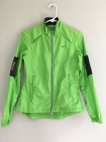 Women's Nike Windbreaker Jacket Small Zip Up Vented Mesh Panels Athletic Green