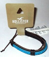 MENS HOLLISTER CALIFORNIA LEATHER ADJUSTABLE BRACELET