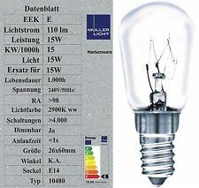 Sonderposten 15W Kühlschranklampe E14 Glühbirnen Glühlampen -30° Kälte 10480