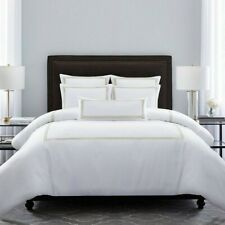 Wamsutta Hotel Baratta Stitch Micro Cotton Full/Queen Duvet Cover in Gold