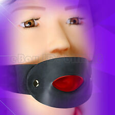 latex fetish mask mouth gags hood plug with adjusted belt RLA075