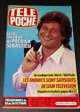 TELE POCHE #975 16/10 1984 PATRICK SEBASTIEN MOTO MARTINSYDE PLATINI M. JOBERT