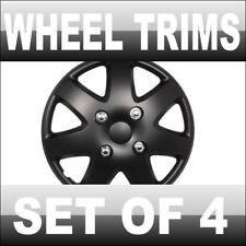 "15"" BLACK CAR WHEEL TRIMS TRIM COVERS VAUXHALL VW VOLVO"