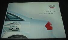 Betriebsanleitung Audi A6 Quattro C5 Security gepanzert SEK GSG9 Stand 07/2001