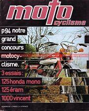 MOTOCYCLISME 23 HONDA CB 125 S EGLI 1000 VINCENT FN 500 SUZUKI GT 750 ECRAM 1971
