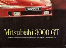 MITSUBISHI 3000 GT 1992 mercato britannico formato POSTER DI LANCIO BROCHURE