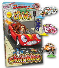 22 CRAZY CARS SHRINKLES WITH WIGGLY EYES SHRINKIE SHRINK ART BUMPER BOX GIFT SET
