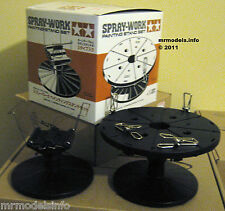 Tamiya Spray Work Painting Turn Table Stands X 2 (in a Box) New Hand Tools 74522