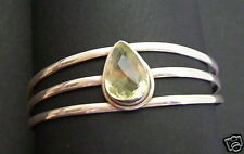 925 STERLING SILVER YELLOW CITRINE BANGLE / BRACELET