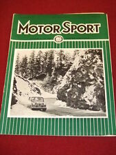 MOTORSPORT - MARCH 1962 VOL XXXVIII # 3