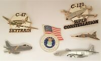 US Air Force Jets Planes Hat Lapel Pin Lot Of 6 C-47 Skytrain C-121 Others