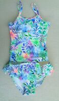BNWT NEXT Baby Girls Floral Frilled Swimsuit Tankini Swimming Costume 3-6 months